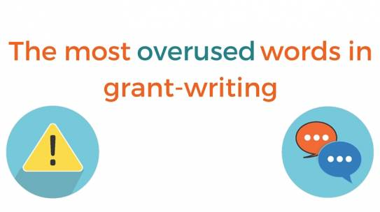 The Most Overused Words in Grant-Writing