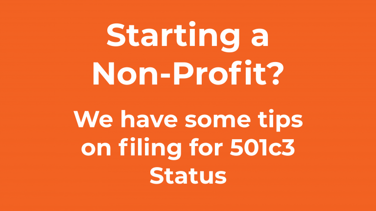 Tips on filing for 501c3 Status