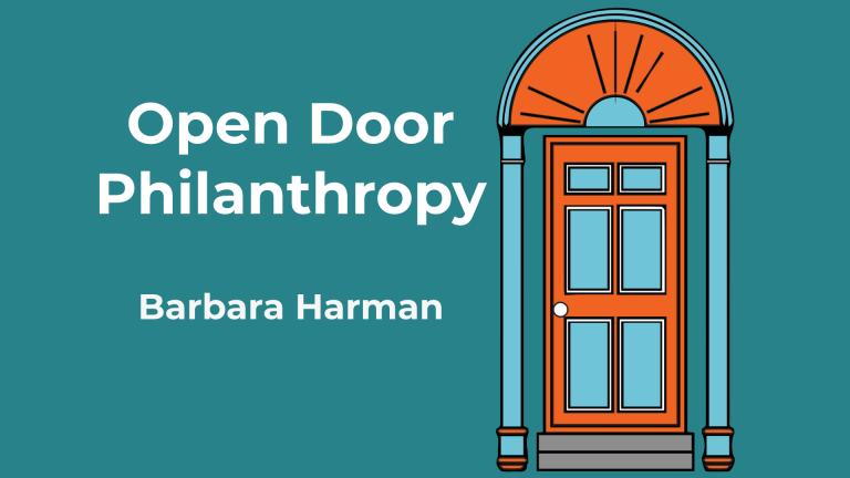 Barbara Harman appears on the Open Door Philanthropy Podcast