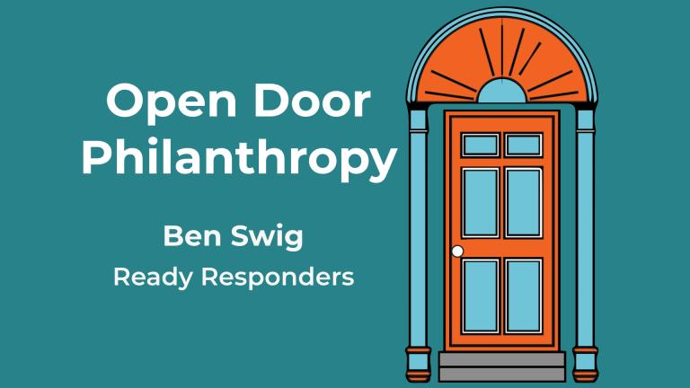Ben Swig appears on the Open Door Philanthropy Podcast