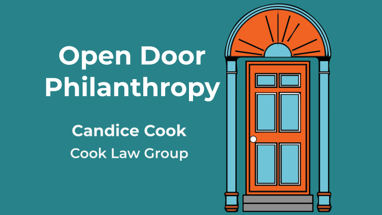Candice Cook appears on the Open Door Philanthropy Podcast