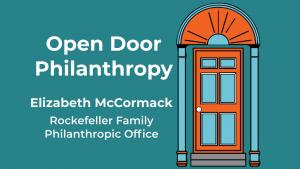 Elizabeth McCormack appears on Open Door Philanthropy Podcast