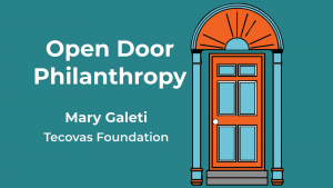 Mary Galeti appears on the Open Door Philanthropy Podcast