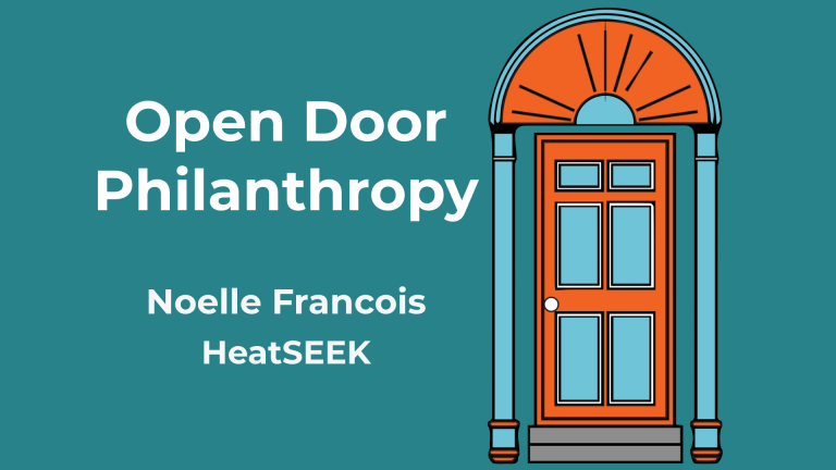 Open Door Philanthropy Podcast Featuring Noelle Francois