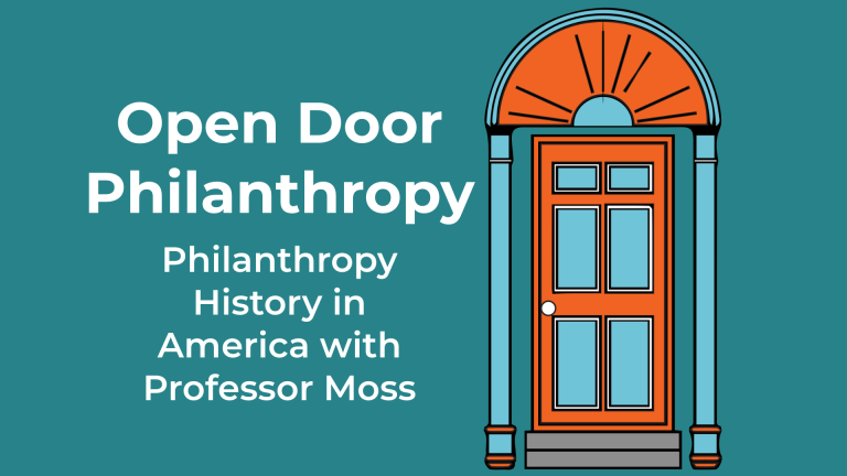 Professor Moss appears on the Open Door Philanthropy Podcast