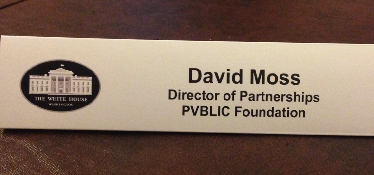 David Moss was once the Director of Partnerships of the PVBLIC Foundation