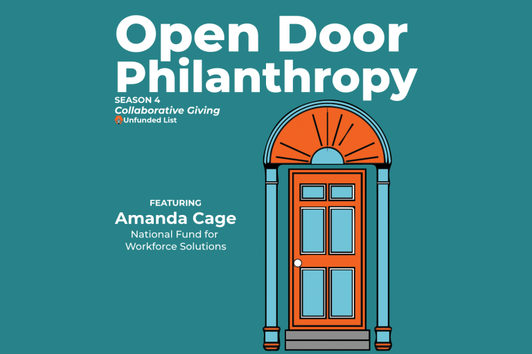 Open Door Philanthropy Podcast with guest Amanda Cage