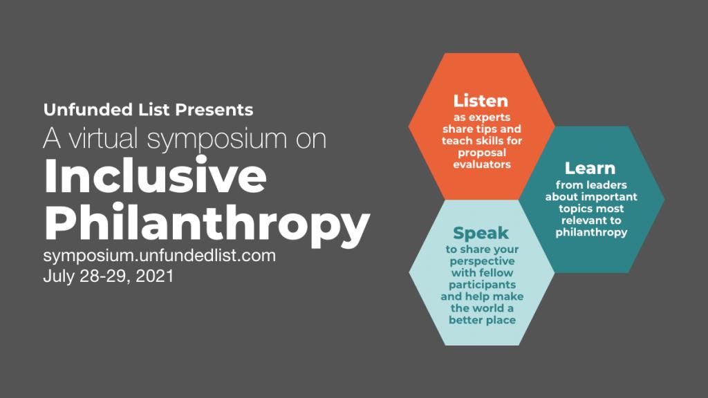 Virtual Symposium on Inclusive Philanthropy